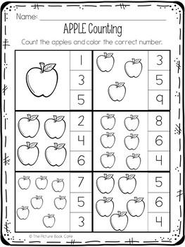 Apple Worksheets-Preschool