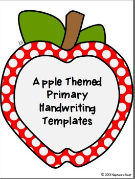 Apple Themed Primary Handwriting Templates