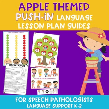 Apple Themed Push-In Language Lesson Plan Guide