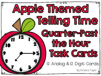 Apple Themed Quarter-Past the Hour Telling Time  Roam the