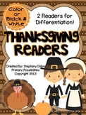Thanksgiving Themed Readers