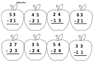 Apple Themed Second Grade Math Skills