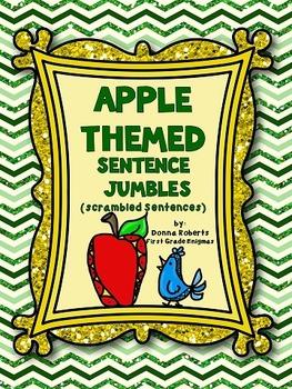 Apple Themed Sentence Jumbles (Scrambled Sentences)