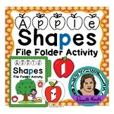 Apple Themed Shape Matching File Folder Game