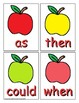Apple Themed Sight Word Recognition Center or Whole Group Game for First Grade