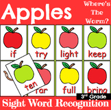 Apple Themed Sight Word Recognition Center or Whole Group Game for Third Grade