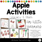 Apple Themed Simple Literacy and Math Activities Bundle