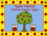 Apple Themed Station/Center  - Great for Classroom Management!!