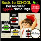 Student Name Tags-Apple Themed {editable}