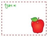 Apple Themed Table/Team Cards