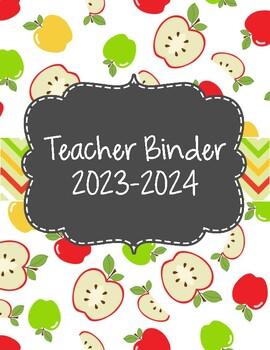Apple Themed Teacher Binder 2018-2019