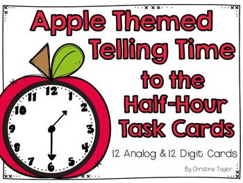 Apple Themed Telling Time to the Half-Hour Roam the Room T