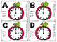 Apple Themed Telling Time to the Hour Roam the Room Task Cards