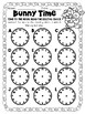 Easter Bunny Themed Telling Time to the Hour Roam the Room Task Cards