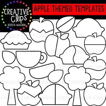 Apple Themed Templates {Creative Clips Clipart}