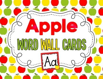 Apple Themed Word Wall Cards