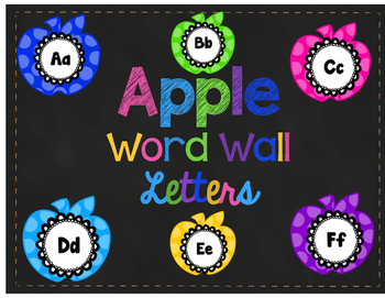 Apple Themed Word Wall Letters