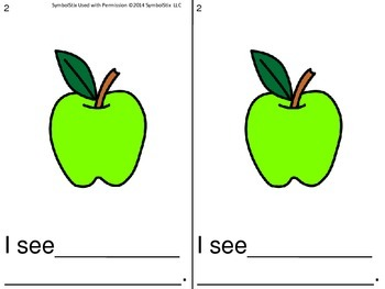 Apple Themed Writing Booklets for Early Childhood or Special Education