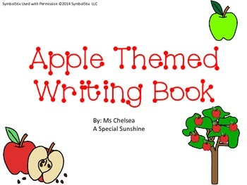 Apple Themed Writing Booklets for Early Childhood or Speci