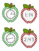 Apple Time Matching Game - Telling Time to the Minute