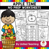 Apple Time No Prep Worksheets