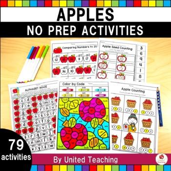 Apple Time No Prep Worksheets