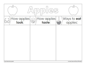 Apple Time - ap Word Family Poem of the Week