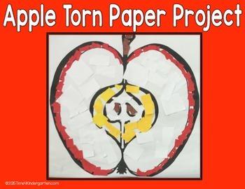 Apple Torn Paper Art Project