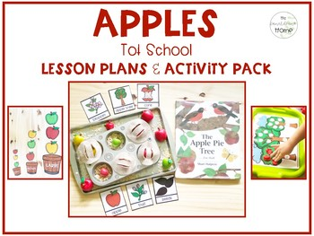 Apples Tot School: Lesson Plans and Activity Pack