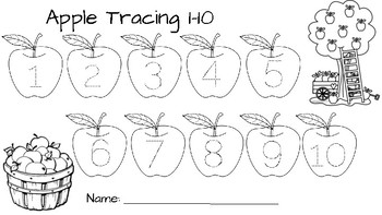 Apple Trace and Count 1-10!