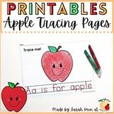 Apple Tracing Printables