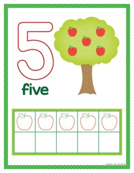 Apples Number Mats:  0-10 Play Dough Counting Mats and Interactive Counting Book