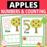 Apple Math Mats |  Apples Theme 0-10 Play Dough Counting Mats