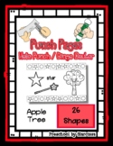 Apple Tree - 26 Shapes - Hole Punch Cards / Bingo Dauber Pages *o