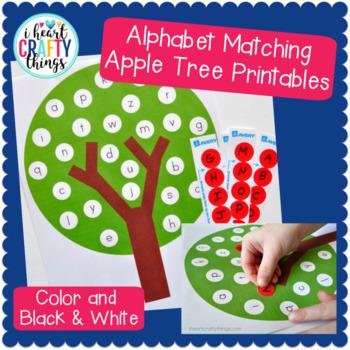 Apple Tree ABC Matching Game