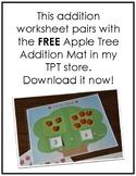 Apple Tree Addition Worksheet