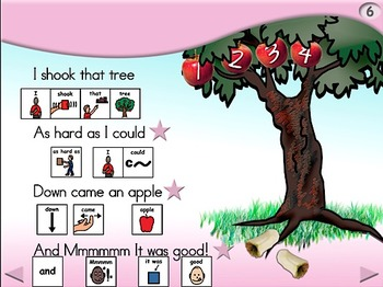 Apple Tree - Animated Step-by-Step Poem PCS Symbols