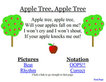 Apple Tree, Apple Tree | Beat & Rhythm Practice - Elementary Music - Kodaly