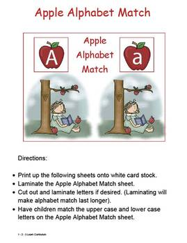 Apple Tree, Apple Tree Math, Science and Literacy Activities