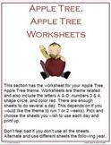 Apple Tree, Apple Tree Worksheets and Crafts