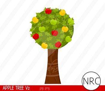 Apple Tree Clip Art V2 - Commercial Use Clipart