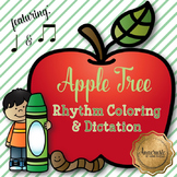 Apple Tree Coloring/Dictation Page