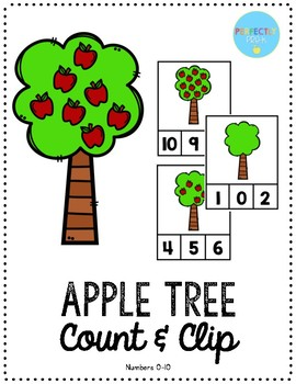 Apple Tree Count & Clip Cards