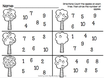 Apple Tree Count and Match