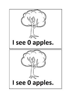 Apple Tree Counting Emergent Reader book for Preschool or Kindergarten