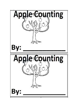 Apple Tree Counting Emergent Reader book for Preschool or