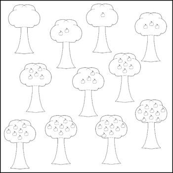 Apple Tree Counting Clip Art