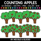Fall Apple Tree Counting Clipart