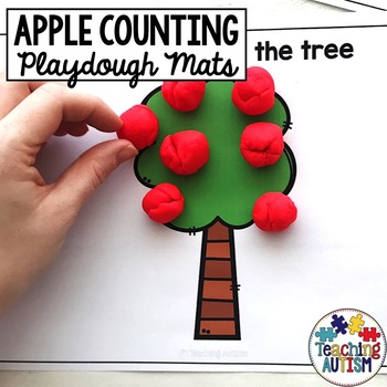 Apple Tree Counting Play Dough Mats