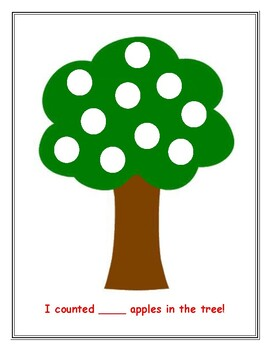 Apple Tree Counting Play-doh Mats